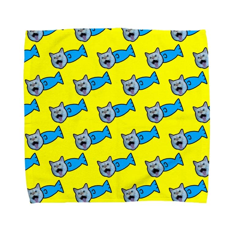 じゅりあんぐ!の概念の大喧嘩🐱🐟💛💙 Towel handkerchiefs