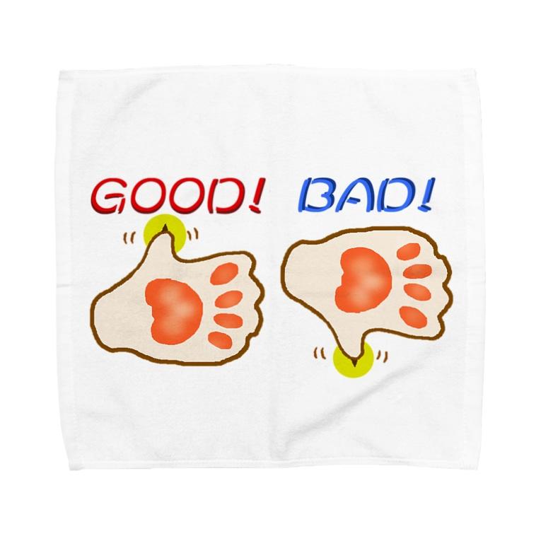 Qsarkのイイネ 良くないねっ Towel handkerchiefs