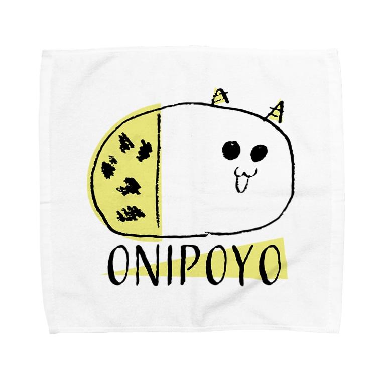 nemunoki paper itemのおにぽよ Towel handkerchiefs