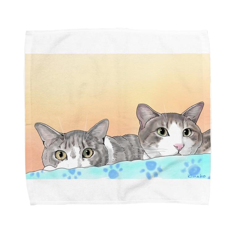 きなこのソラちゃん シド君 Towel handkerchiefs
