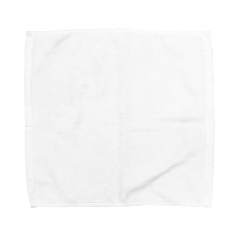 Ny(にぃ)の魔法陣#001白字 Towel handkerchiefs