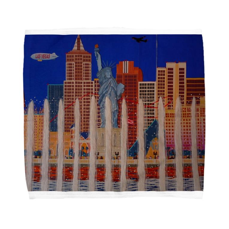 Junie貼り絵グッズのラスベガス Towel handkerchiefs