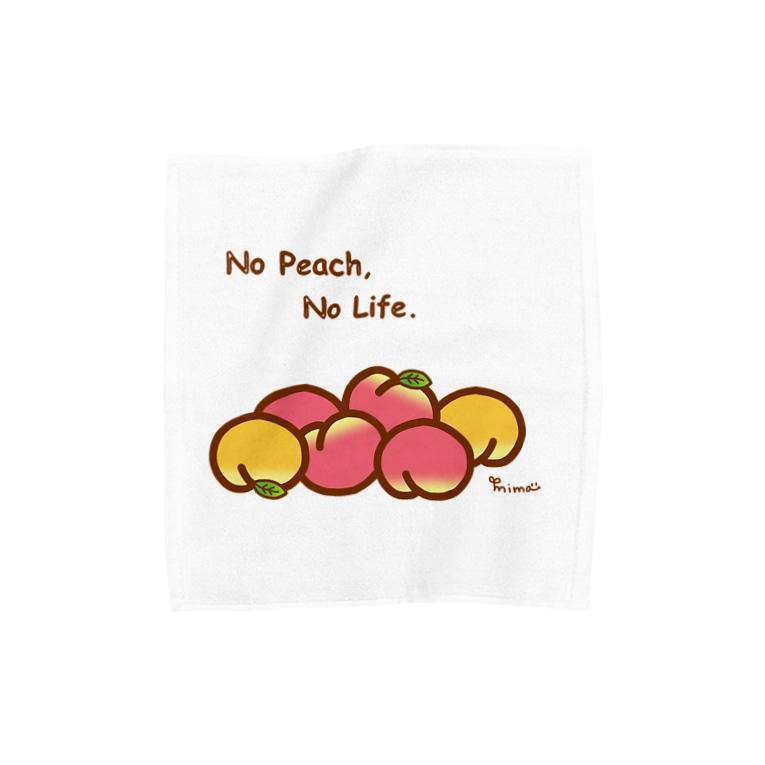 Nari's farm(ナリズファーム)の桃ゴロゴロ Towel handkerchiefs