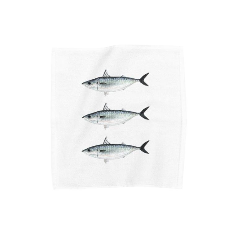 ソラクモストアのサバハンカチ Towel handkerchiefs