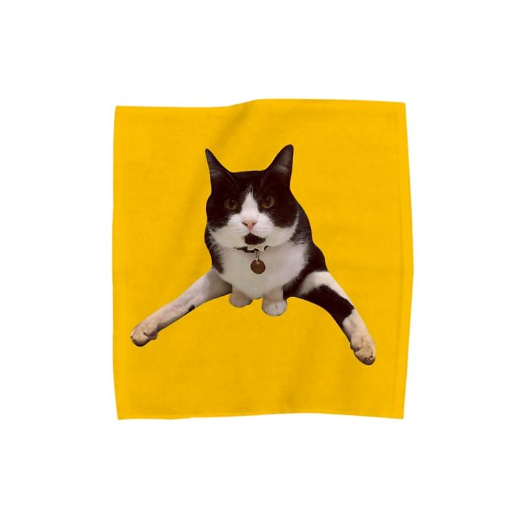 保護猫グッズ・パール女将のお宿のこくらねこ部 にぃちゃんグッズ Towel handkerchiefs