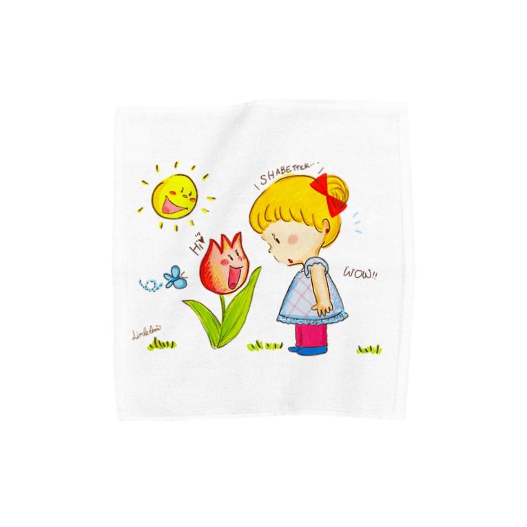 LittleAmi(リトルアミ)のチューリップさんがしゃべってる!? Towel handkerchiefs