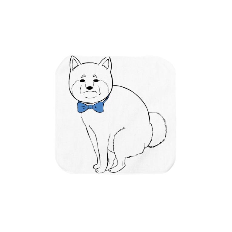 ずんだSUZURI店の柴犬おじさん Towel handkerchiefs
