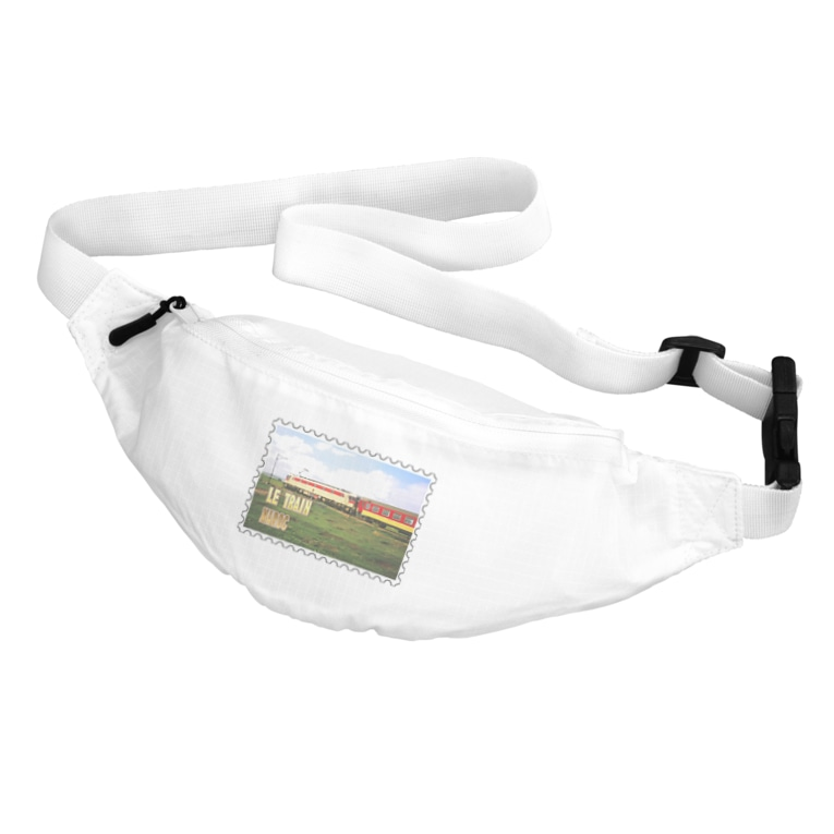 FUCHSGOLDのモロッコ:列車★白地の製品だけご利用ください!! Morocco: Train★Recommend for white base products only !! Belt Bag