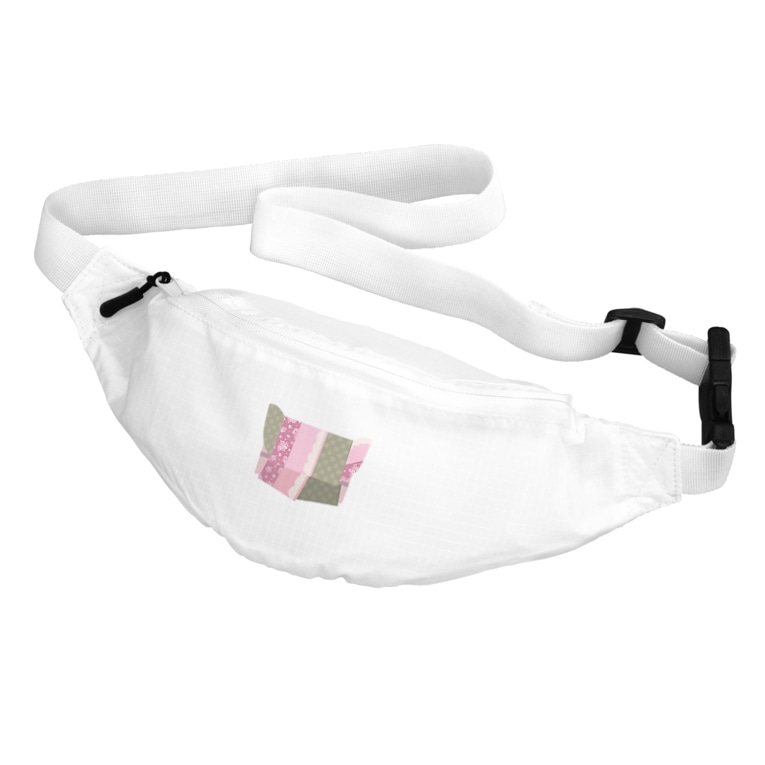 yacocoの帯柄 ピンク×緑 Belt Bag