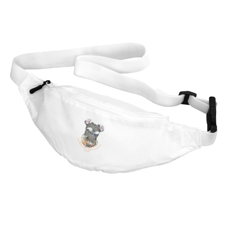 OtoHaru_shopのMiniature Schnauzer Love Belt Bag