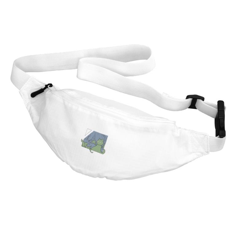 ちょぼろうSHOPの冒涜的な猫ルフ(色付き) Belt Bag