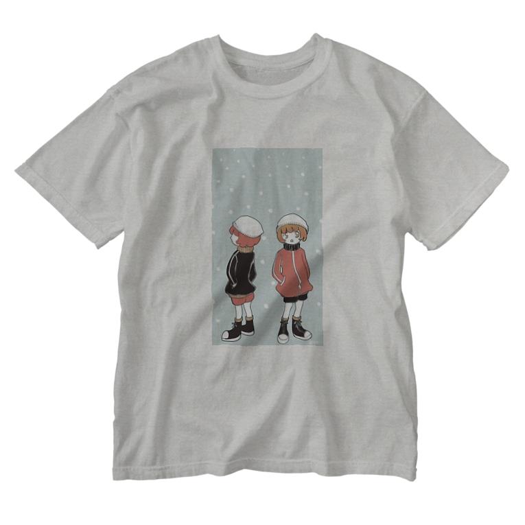木ノ下商店のひじりくんと愛ちゃん。 Washed T-shirts
