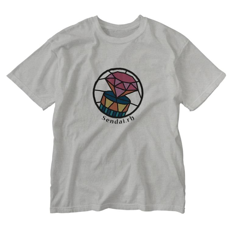 イノたまごラボのSendai.rbロゴ(大) Washed T-shirts
