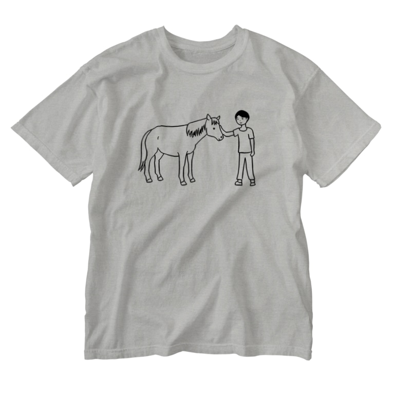 Abii Horseの馬のいる日常 Washed T-shirts