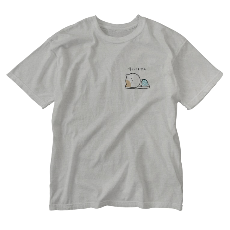 ななの怠け猫のTシャツ Washed T-shirts