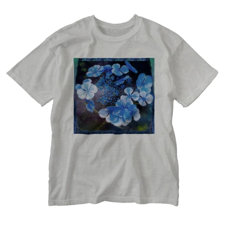 suparnaのアオノオト Washed T-shirts