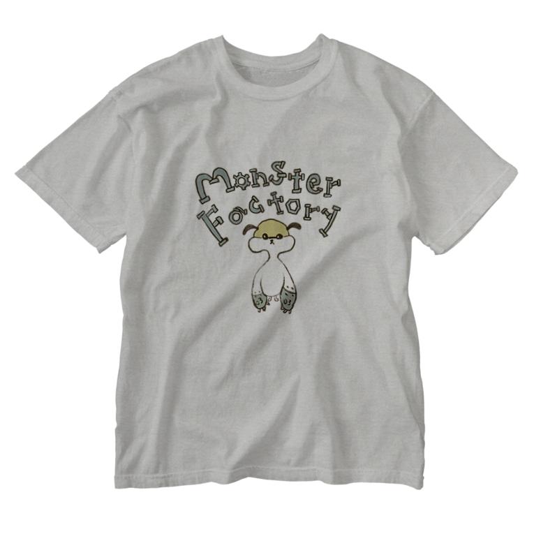 ねこぜや のモンスター工場🏭 モモ Washed T-shirts