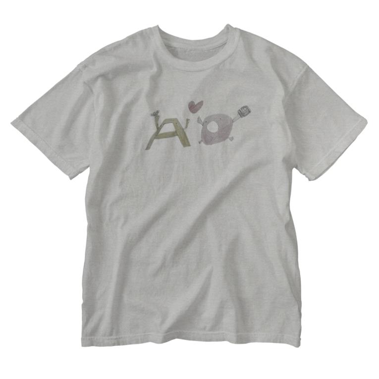 99hammyの長男画伯 AちゃんOちゃん Washed T-shirts