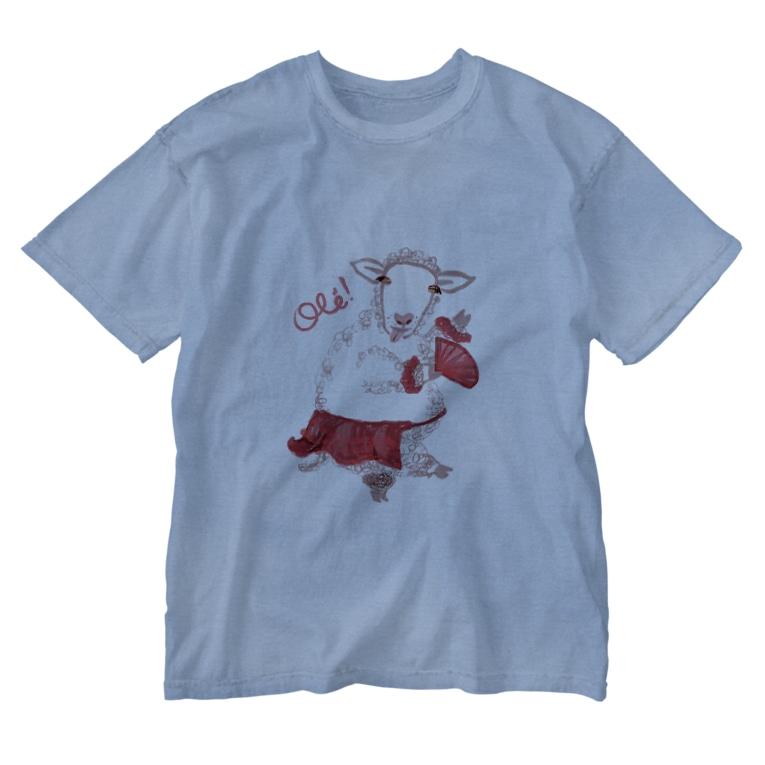 papricaのひつじさん、オレッ! Washed T-shirts