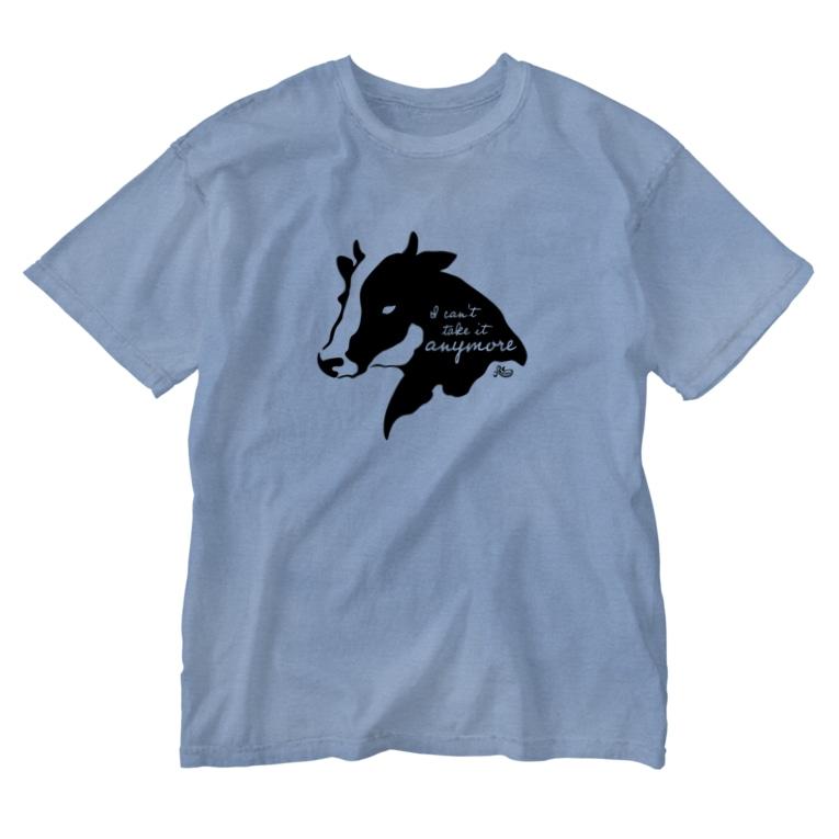 kocoonのモウ無理な牛 Washed T-shirts