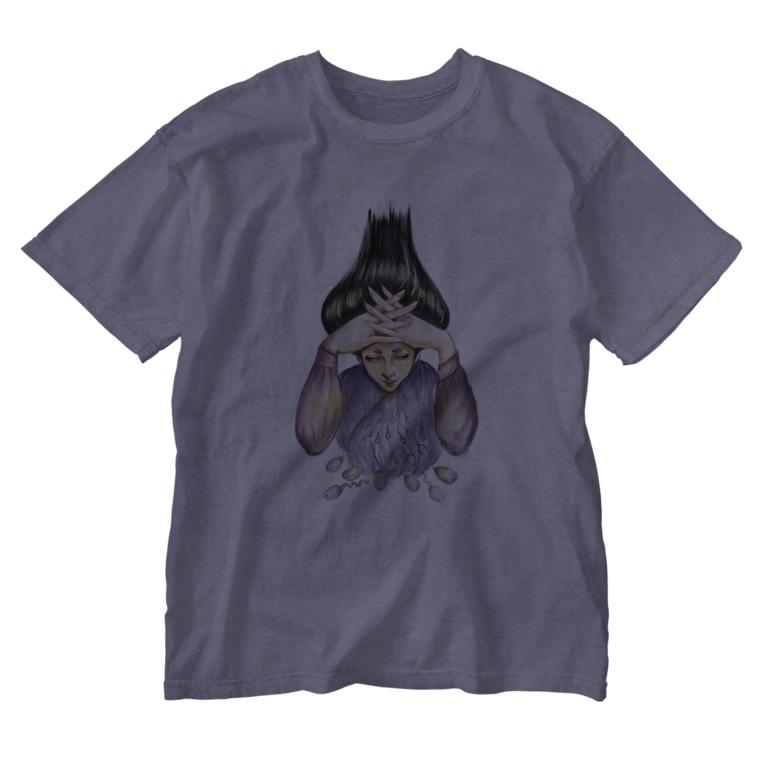 Runartworksの射精 Washed T-shirts