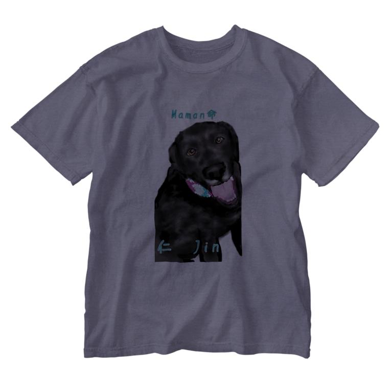 DOGLABの黒ラブ 仁くん Washed T-shirts