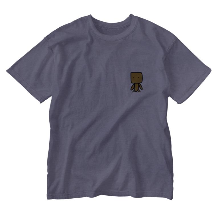 🌈オクトうさぎ@ですのオリジナルキャラ Washed T-shirts