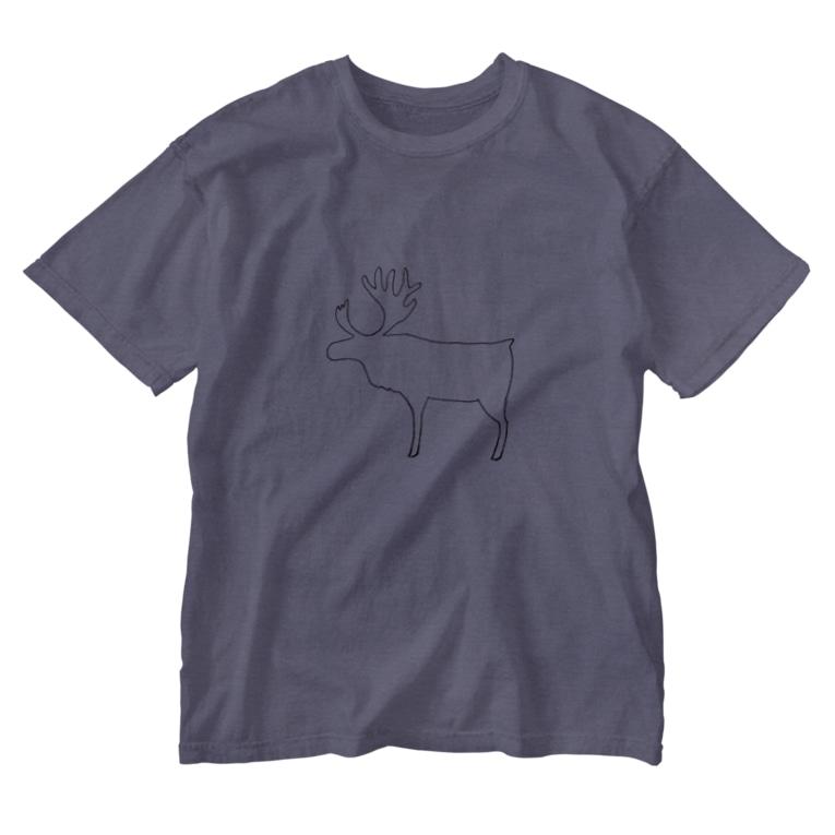 tante gartenの偶蹄類 Washed T-shirts
