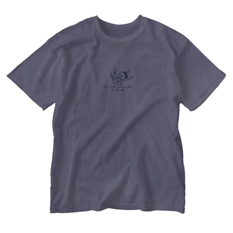 さきもとあきのぶ (イラストレーター)のsoakin in the sky Washed T-shirts