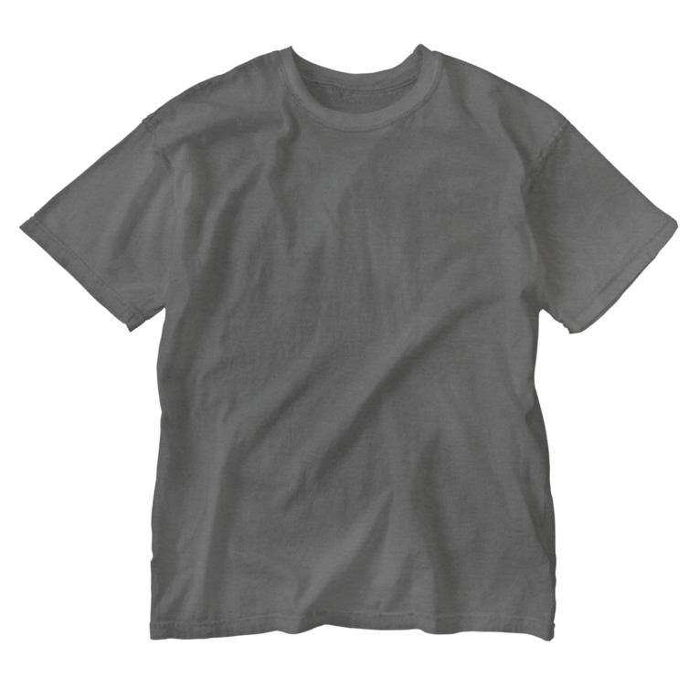 マツバラのもじゃまる茫然 白 Washed T-shirts