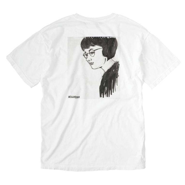 EMK SHOPSITE のめがねっ子 Washed T-shirts