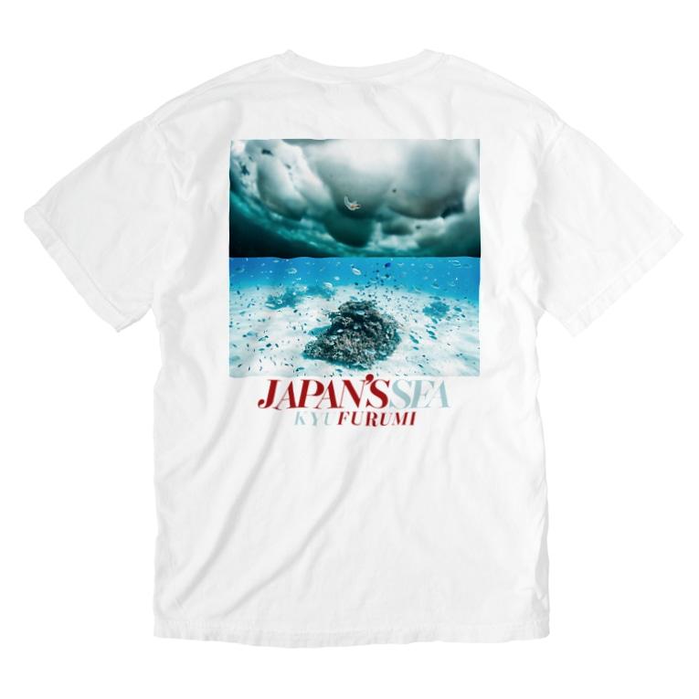 Kyu Furumiのjapan's sea_2 Washed T-shirtsの裏面
