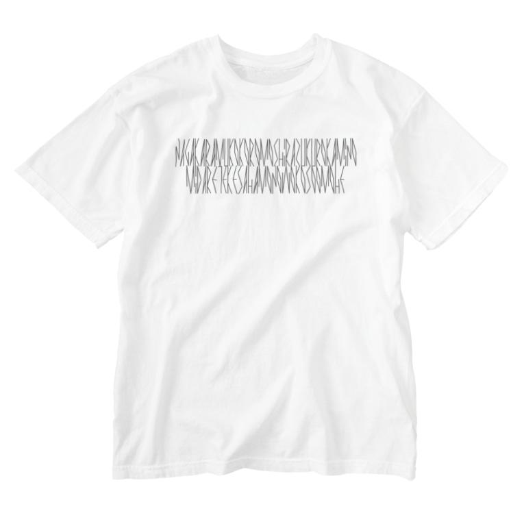 カナクギフォントの「百人一首 80番歌 待賢門院堀河」カナクギフォントL Washed T-shirts