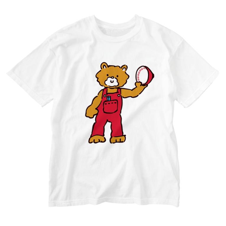M-kuwaharaのベアー Washed T-Shirt