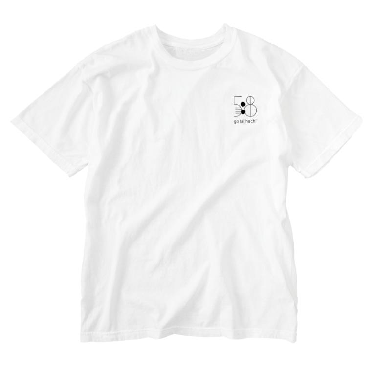 5:8 gotaihachiの5:8 Washed T-shirts