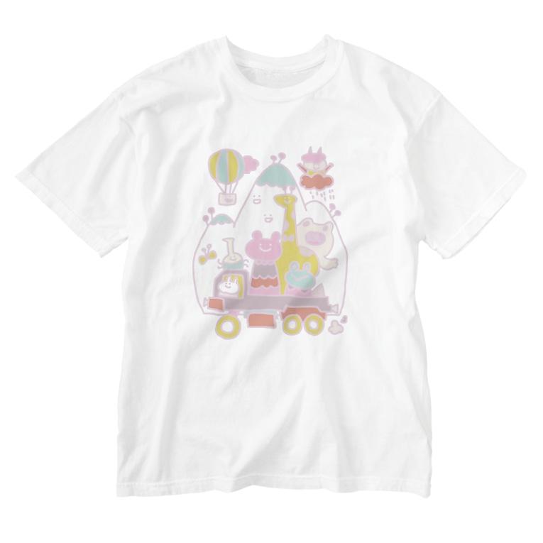 mata-tabiのイカツイクルマ優しい色 Washed T-shirts