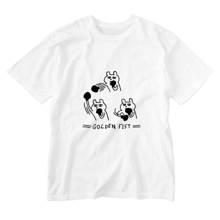 PokuStarのボクシング 黄金の右 Washed T-shirts