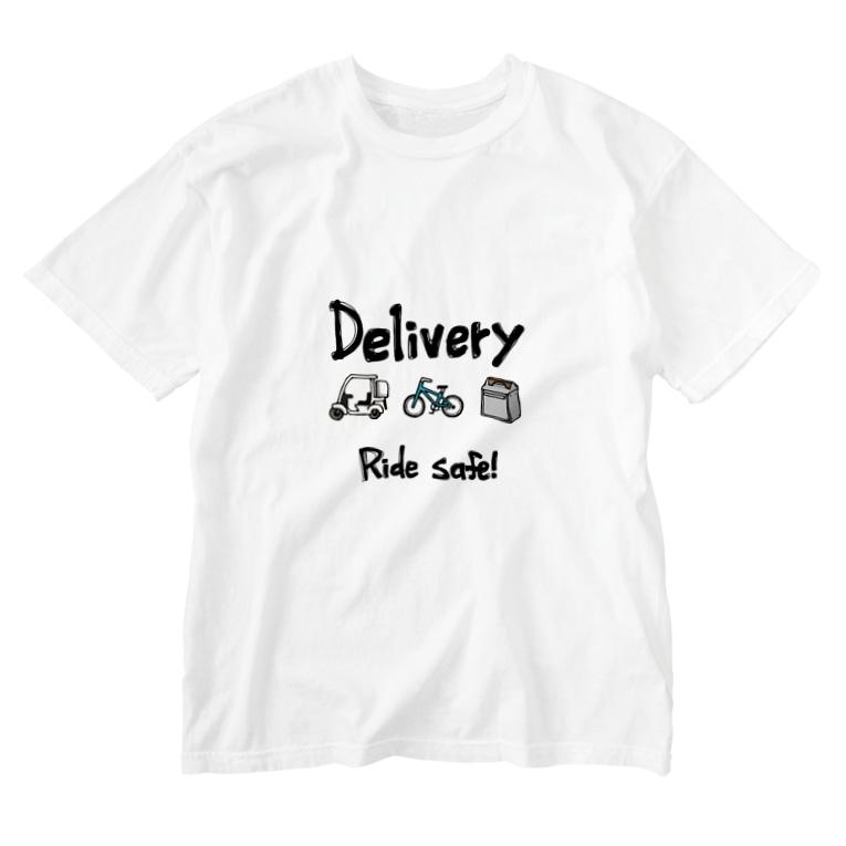 Negimagroの配達員Tシャツ(ウォッシュTシャツ) Washed T-Shirt