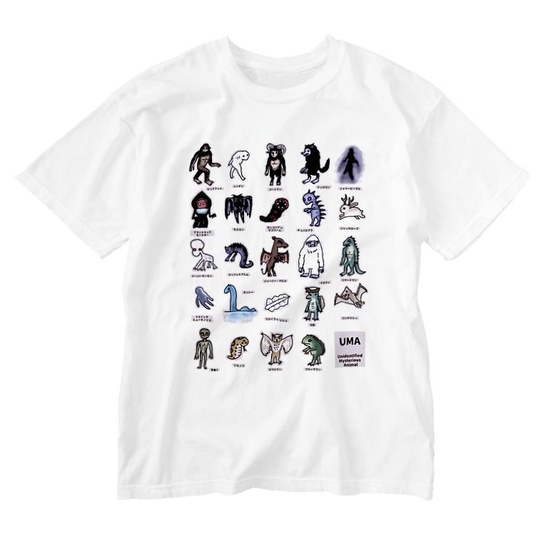 すとろべりーガムFactoryのちょっとゆるいUMA図鑑 (カラーパターン2) Washed T-shirts