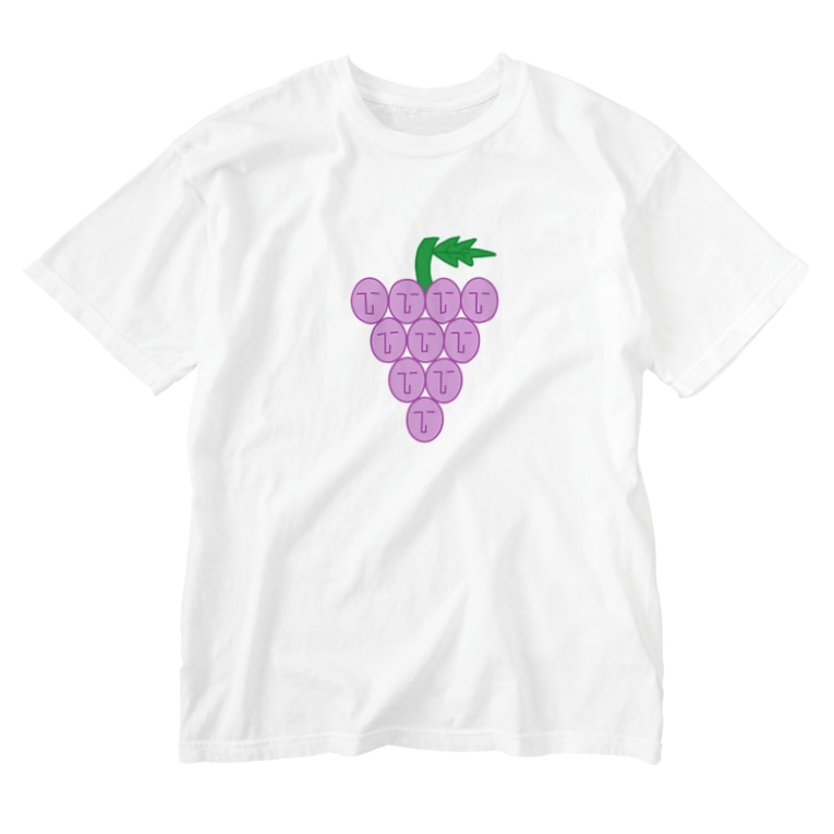 NATSUKO-SHOPのthe face ブッピ☆ (ブドウ) Washed T-shirts