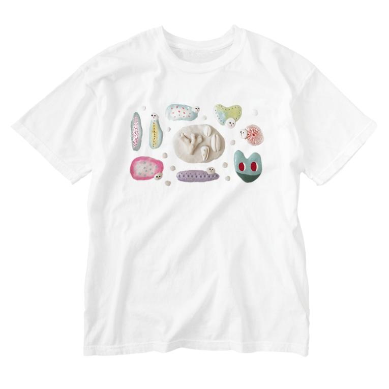 kaotandollのばくちゃんず Washed T-shirts