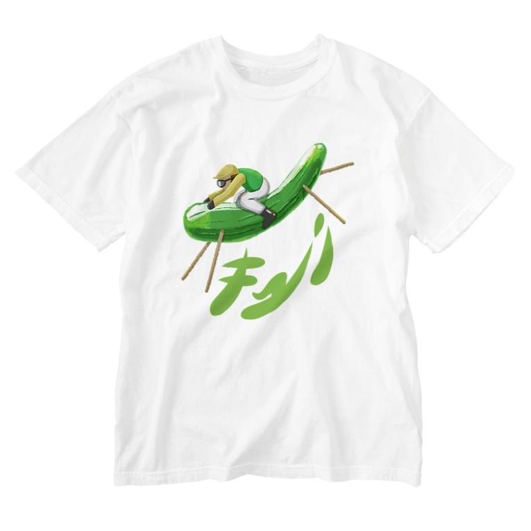 Slow Typingのサラブレッドキューリ 226 Washed T-shirts