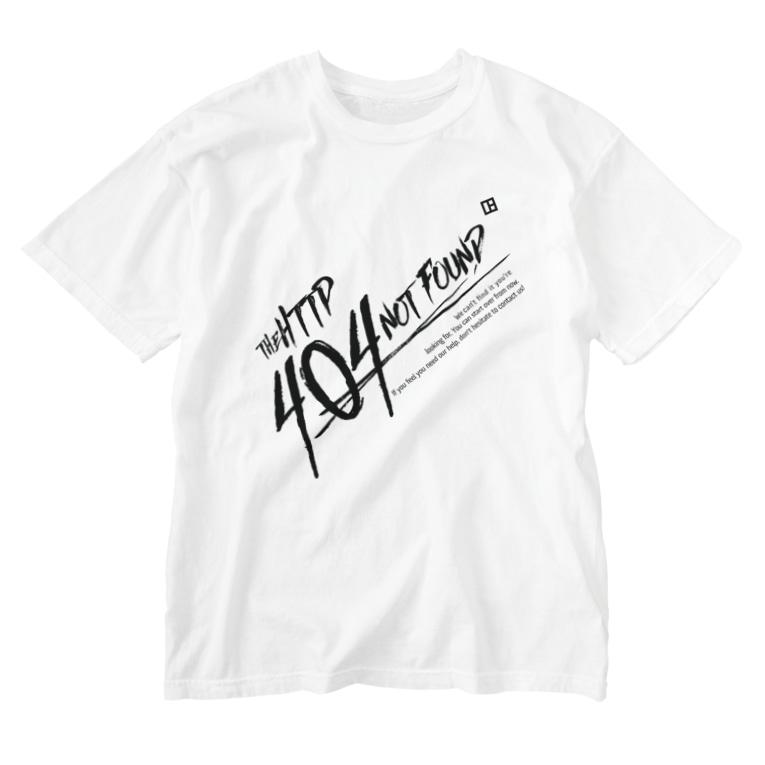 WEBPLAの404 NOT FOUND Washed T-shirts