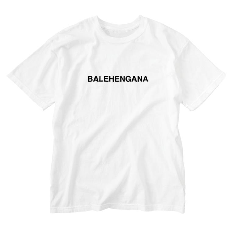 TOKYO LOGOSHOP 東京ロゴショップのBALEHENGANA -バレヘンガナ ばれへんがな 黒ロゴ Washed T-shirts