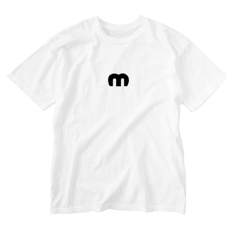 MechuのMechuロゴ Washed T-shirts