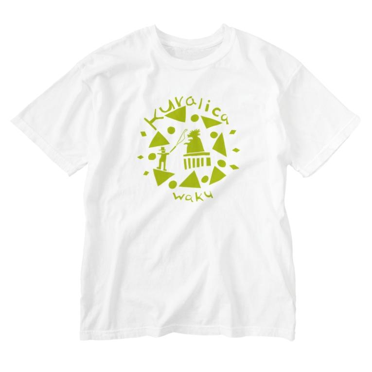 kuralica WAKUWAKU storeのWAKUWAKUサーカス/グリーン Washed T-shirts