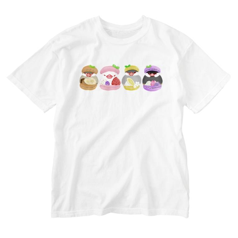 Lily bird(リリーバード)のマカロン文鳥ず Washed T-Shirt