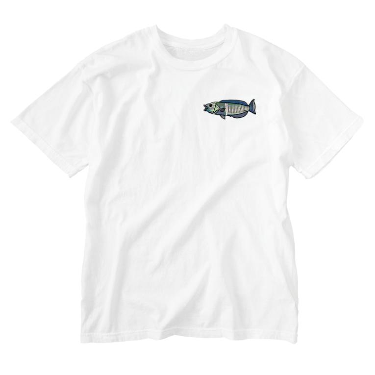 snaggedgorillaのシロタスキベラ Washed T-shirts