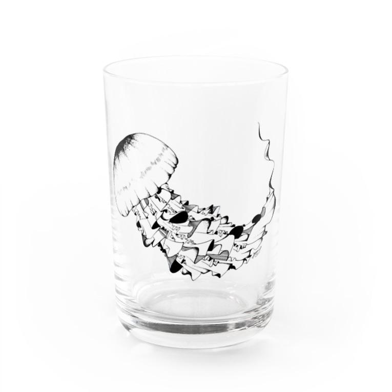 繁田穂波のブラッククラゲ グラス Water Glass