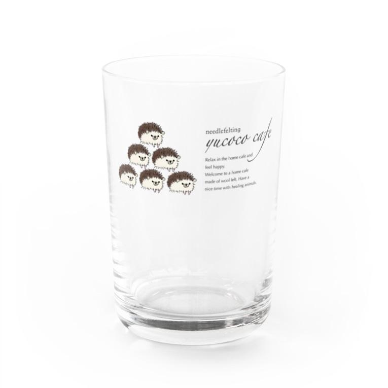 yucoco cafeのハリネズミさんのグラス3 Water Glass